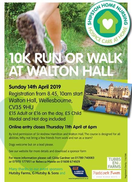 Shipston Home Nursing Walton Hall Event Poster